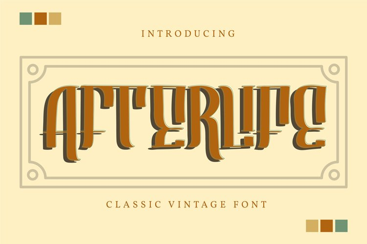 Afterlife | Classic Vintage Font example image 1
