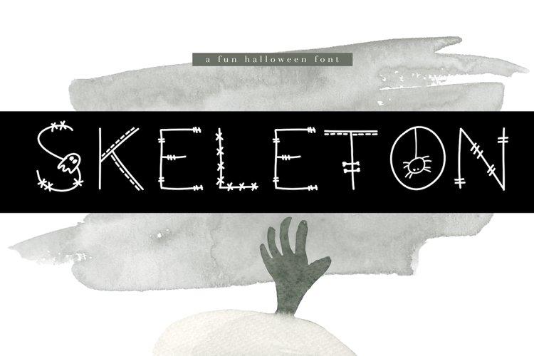 Skeleton - A Fun Halloween Font example image 1