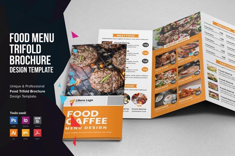 Food Menu Trifold Brochure v2 example image 1