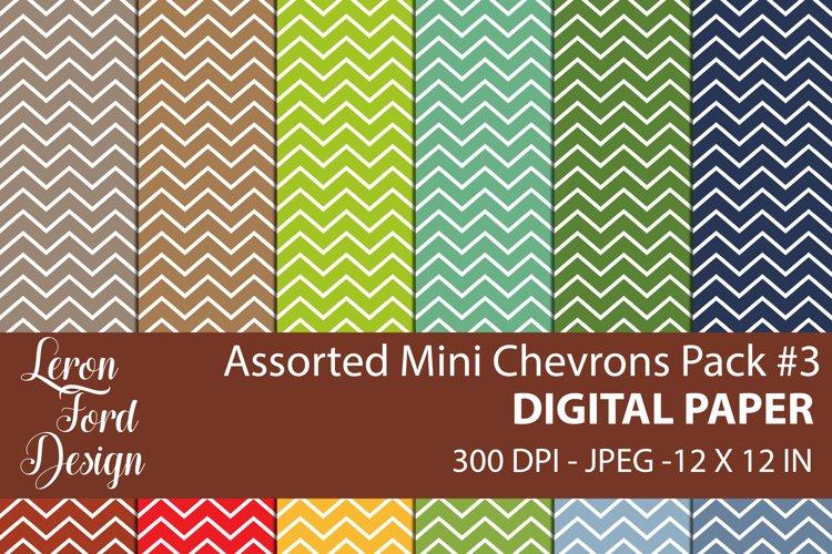 Assorted Mini Chevrons Pack #3 Digital Paper example image 1