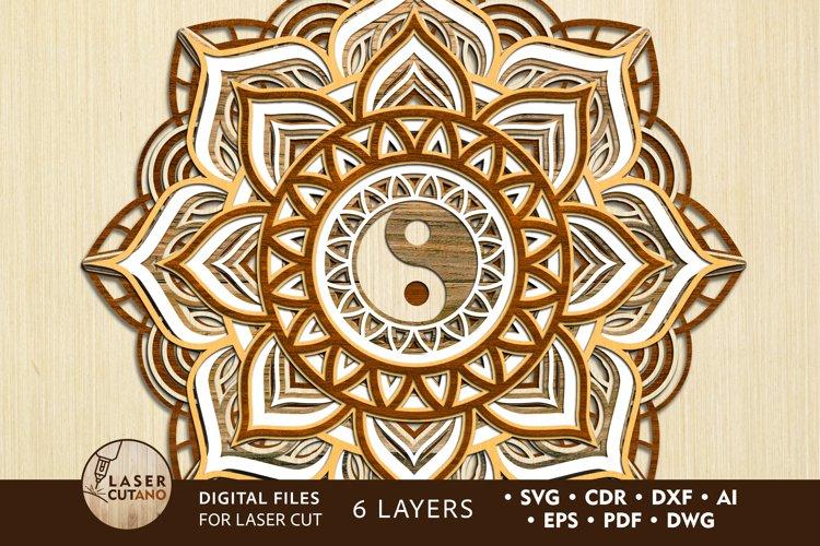 Multilayer Cut File Mandala for Laser Cutting, Cricut, CNC