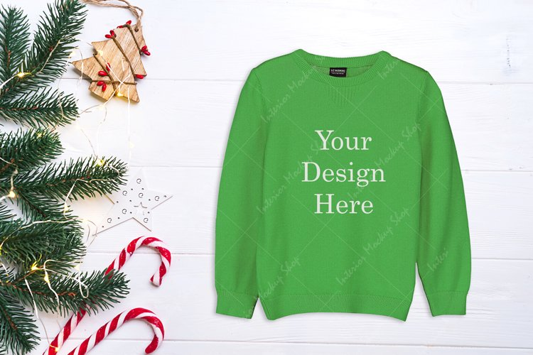Sweater Christmas Mock-Up -Green \ 218