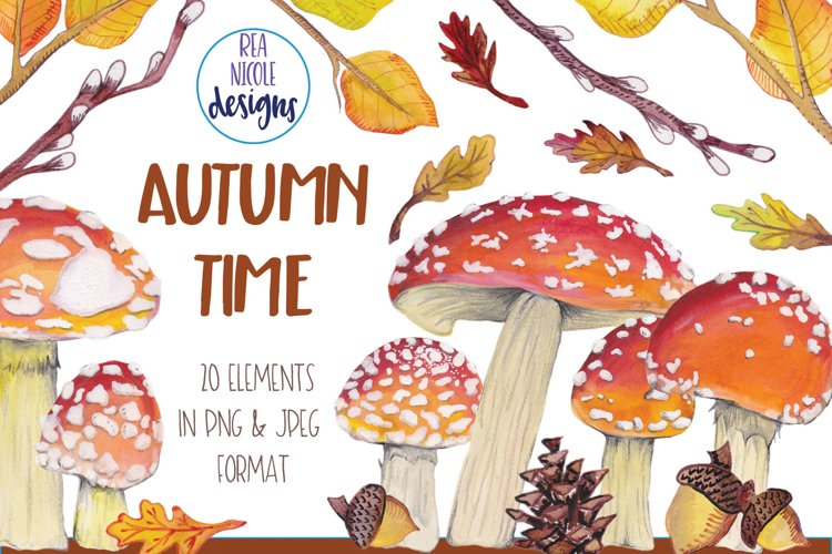 Autumn Time Clipart example image 1