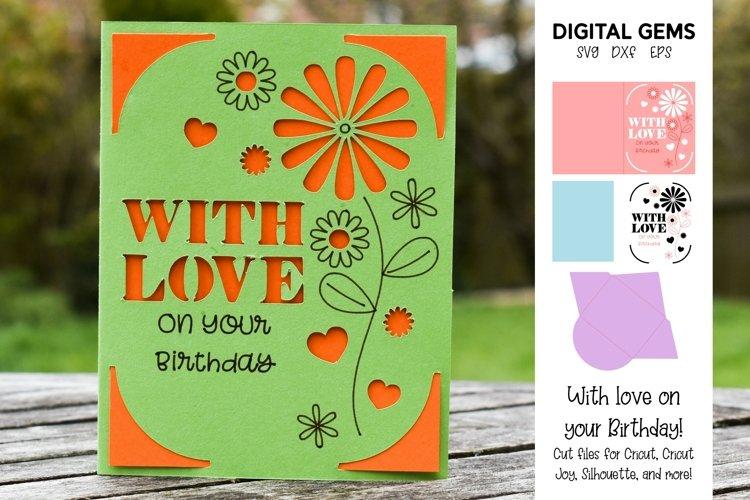 Cricut Joy Card! With love on your Birthday card design!