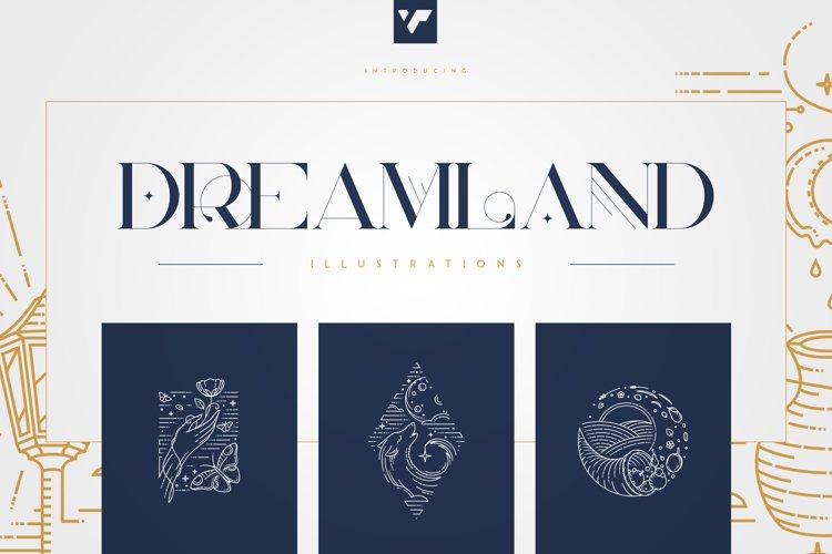 Dreamland - line art illustrations