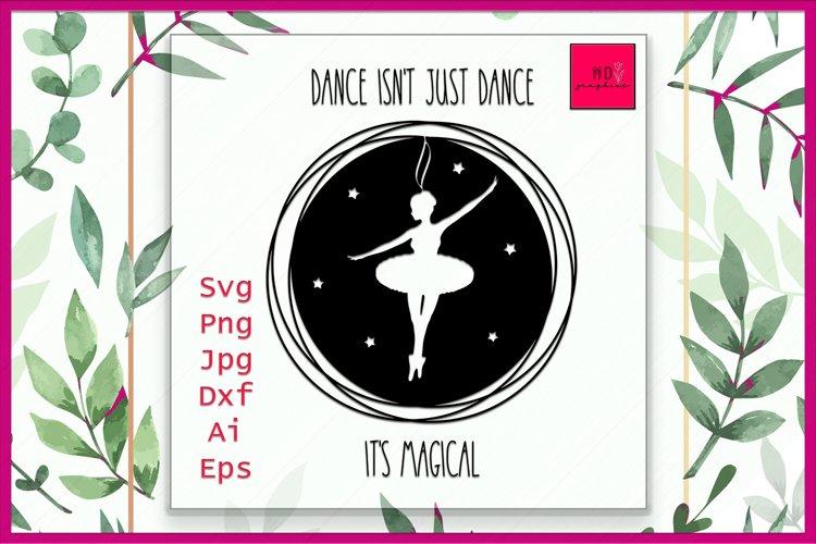 Ballerina SVG, Ballet svg, Girl Dance svg, Ballet Dancer SVG example image 1
