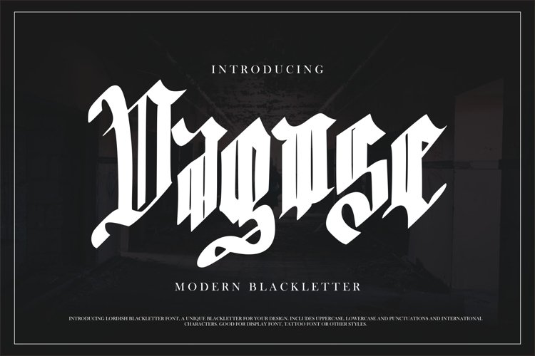 Dagose | Modern Blackletter example image 1