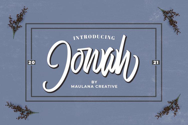 Jonah Brush Font example image 1