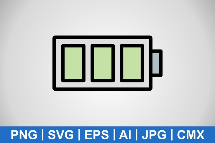 Vector Full Battery Icon example image 1