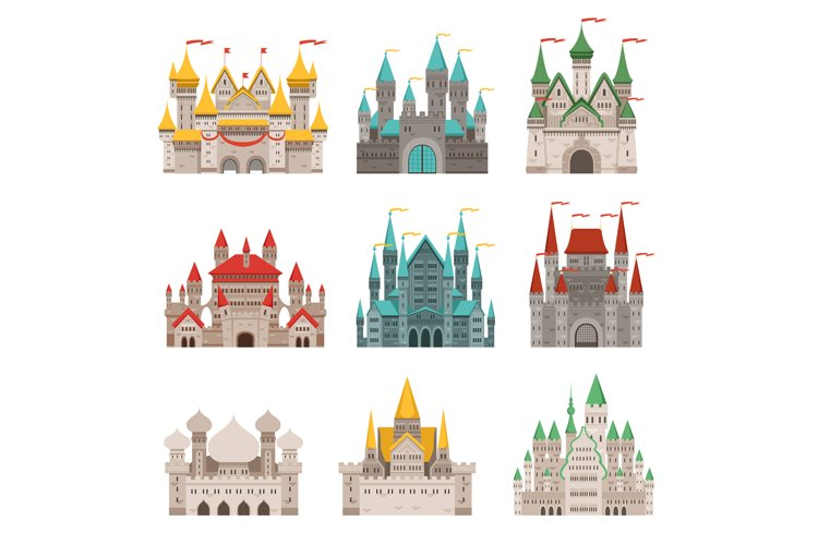 Medieval old castles and historical buildings with fairytale example image 1