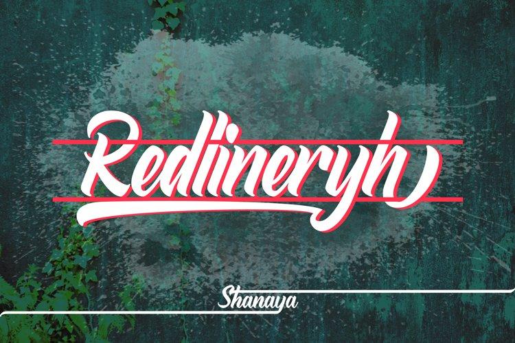 Redlineryh Typeface example image 1