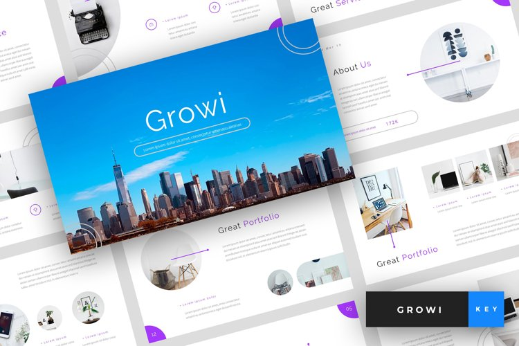Growi - Business Keynote Template example image 1