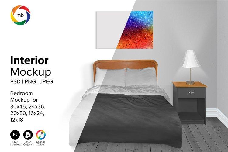 Bedroom Mockup 12x18, 16x24, 20x30, 24x36 - PSD, PNG, JPG