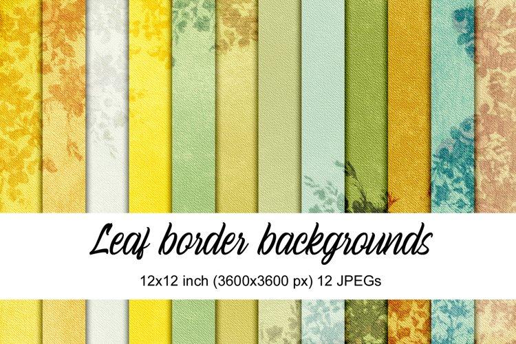 Leaf Border Backgrounds example
