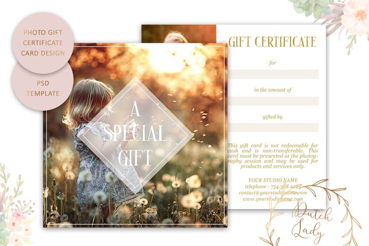 Photo Gift Card Template for Adobe Photoshop - #11