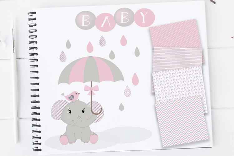 Baby Girl Clipart, Elephant Clipart, Baby Clip art, Baby Shower Elephants, Elephants Clip Art, Elephant Nursery, Baby Girl Elephants Clipart
