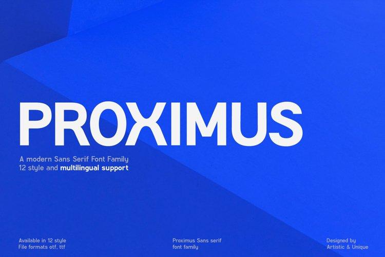 Proximus - Sans serif font family example image 1