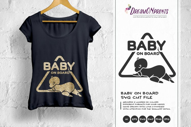 Baby on Board SVG Cut File example image 1