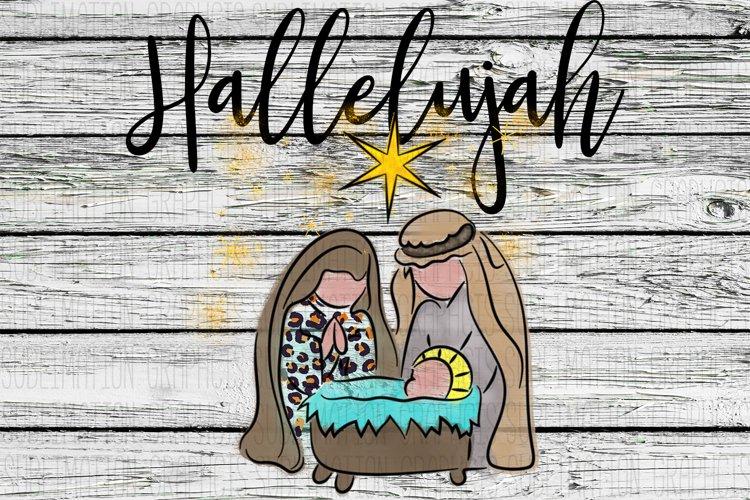 Hallelujah Sublimation Digital Download example image 1