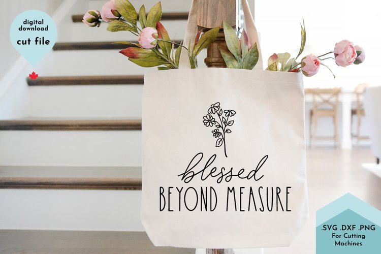 Christian svg, Blessed Beyond Measure Hand Lettered