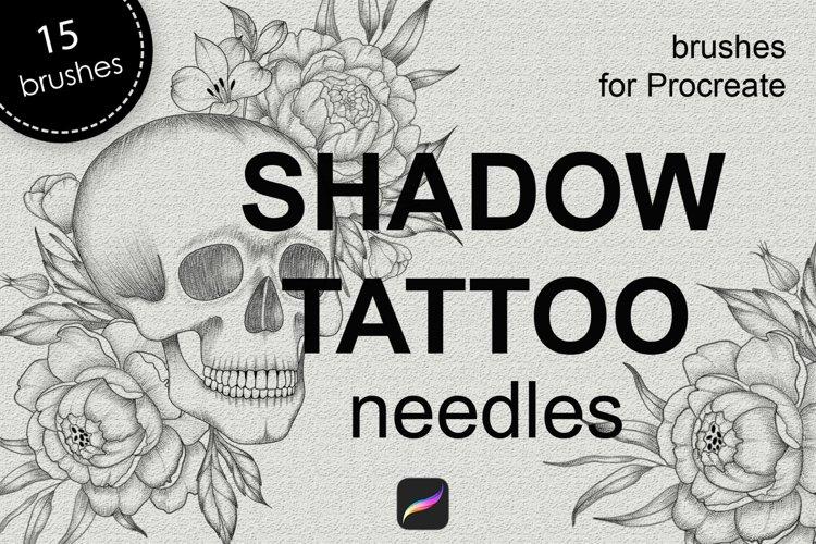 Shadow tattoo needles brushes for Procreate example image 1