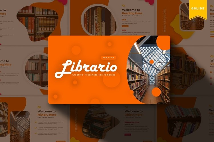 Librario | Powerpoint, Keynote, Google Slides Template example image 1
