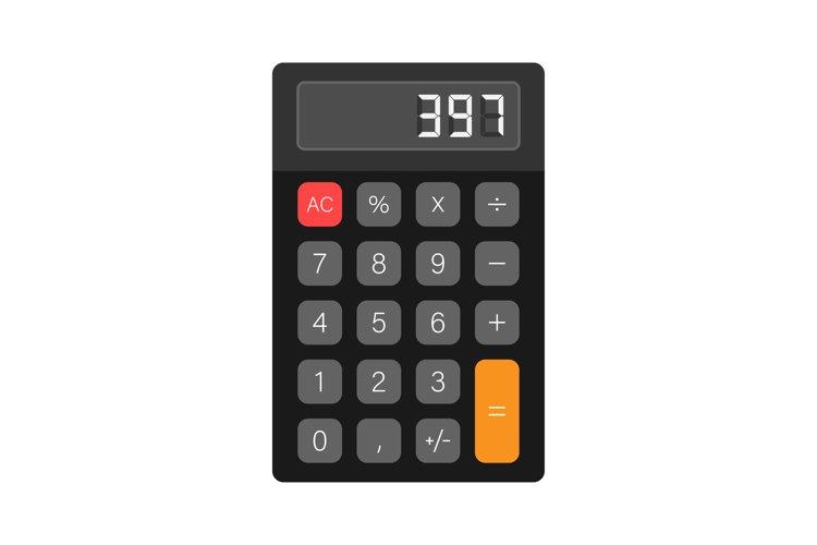 Black calculator white background. Modern design. Electronic example image 1