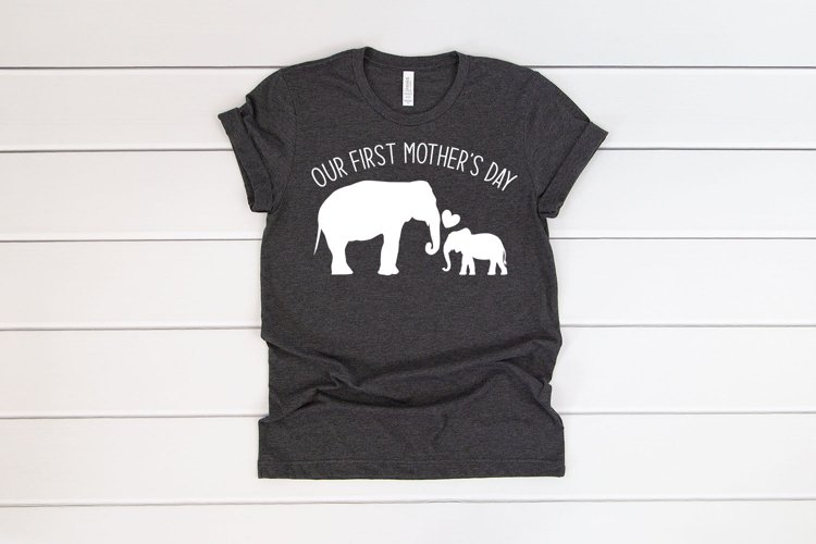 Our first Mothers day, elephant mom and baby, cut files