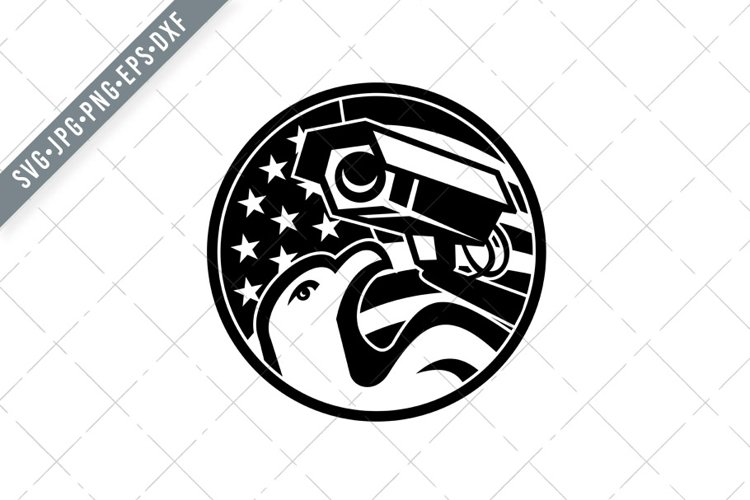 American Eagle and Security Camera SVG