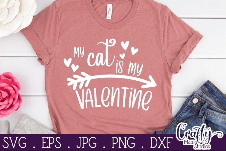 Download Valentine S Day Svg My Cat Is My Valentine Svg Shirt 1114236 Cut Files Design Bundles