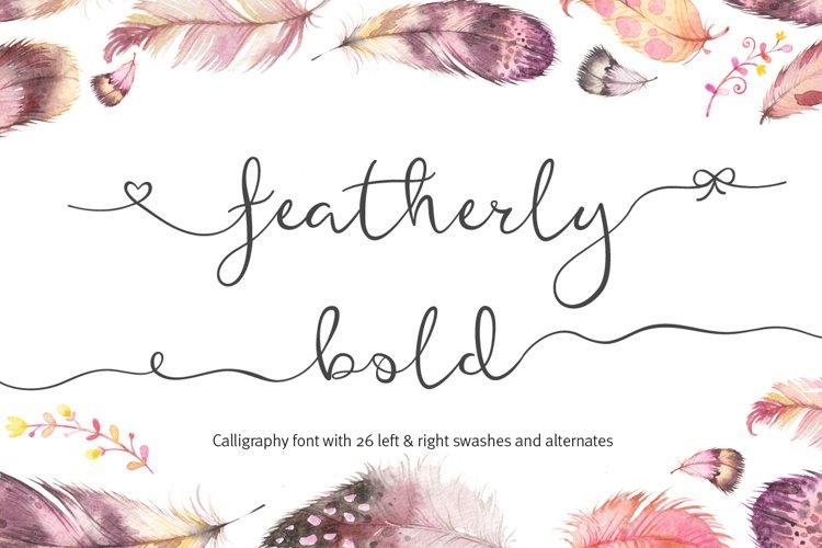 Featherly Bold Font - wedding font