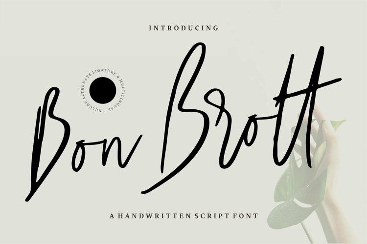 Web Font Bon Brott - A Handwritten Script Font example image 1