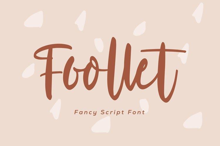 Web Font Foollet- Fancy Script Font example image 1