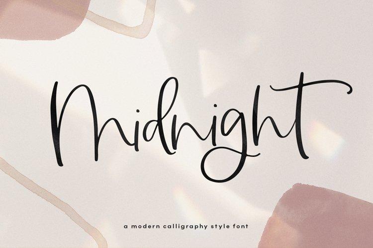 Midnight - Handwritten Script Font