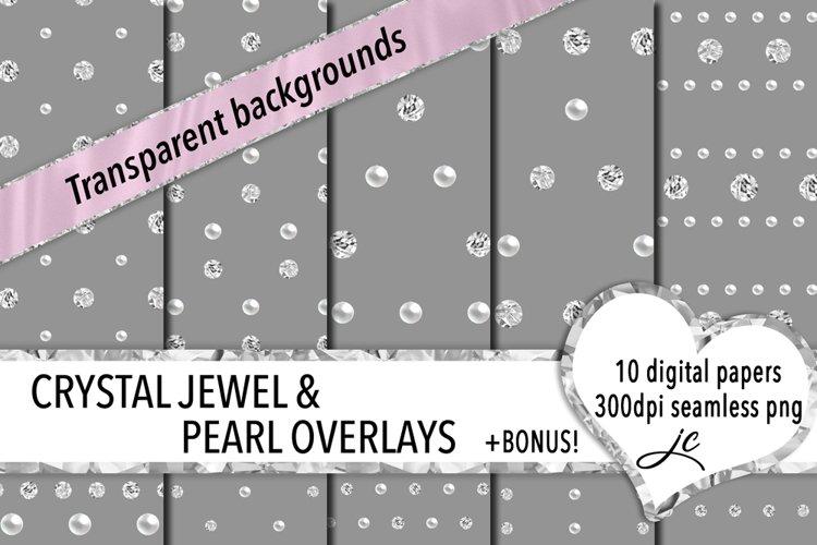 Crystal Jewel and Pearl Overlays