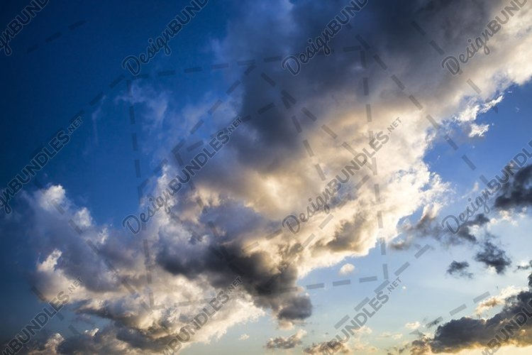 Clouds in the sky. example image 1