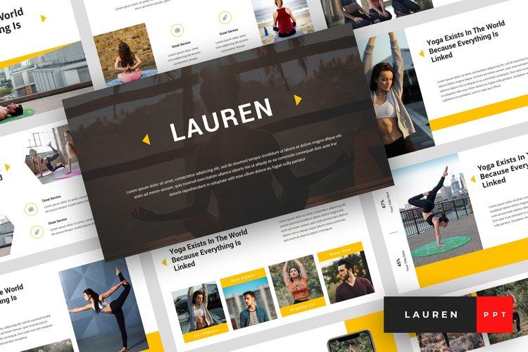 Lauren - Yoga PowerPoint Template example image 1