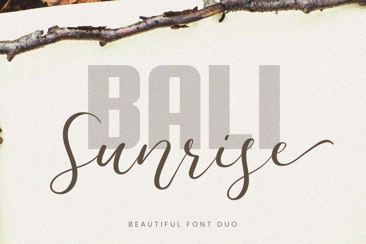 Bali Sunrise - Font Duo example