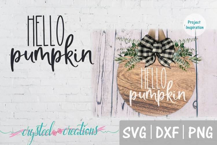 Hello Pumpkin SVG, DXF, PNG, EPS example image 1
