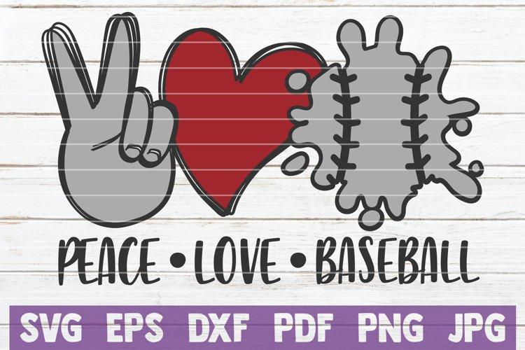Download Peace Love Baseball Svg Cut File 965801 Cut Files Design Bundles