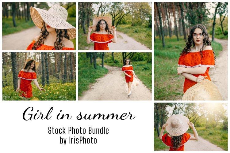 Girl in summer stock photo bundle