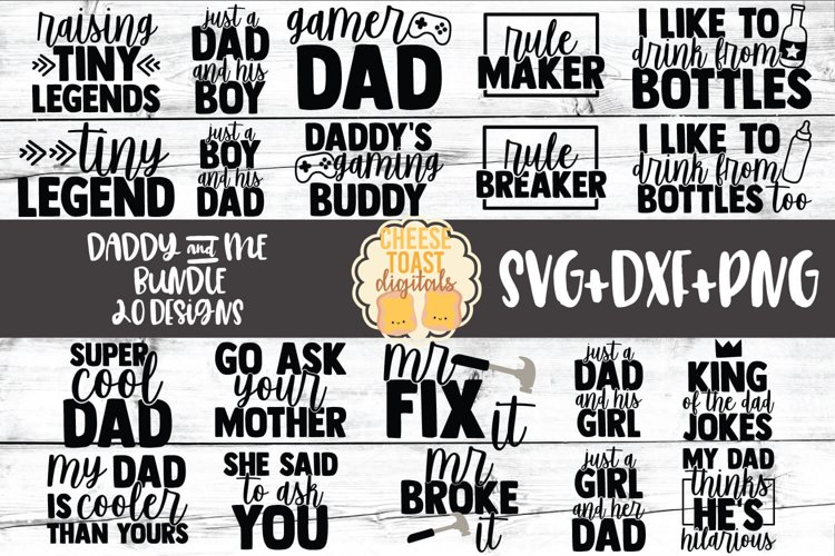 Daddy and Me SVG Bundle - 20 Designs example image 1