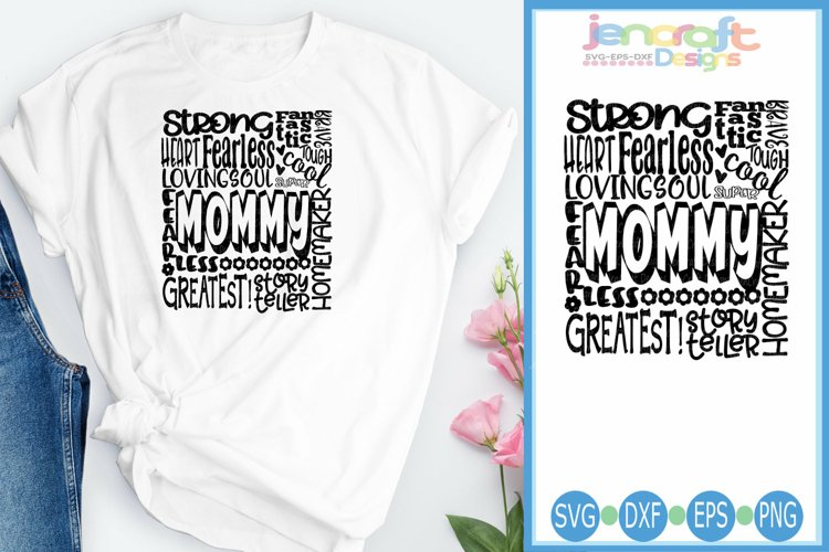 Mommy SVG, Mothers Day SVG, typography word art Svg, Eps