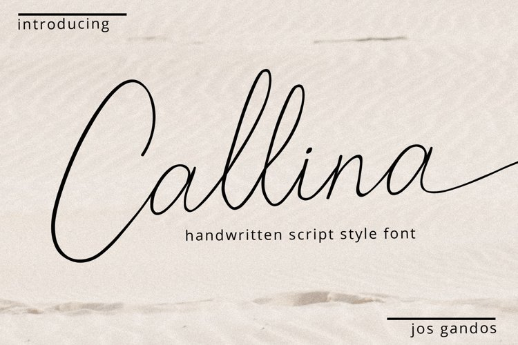 Callina Handwritten Font example image 1