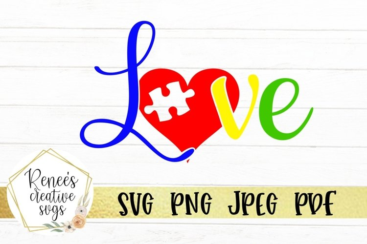 Autism Love | Autism | SVG Cutting File example image 1