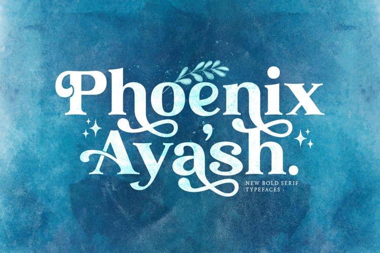 Phoenix Ayash - Bold Serif Font example image 1