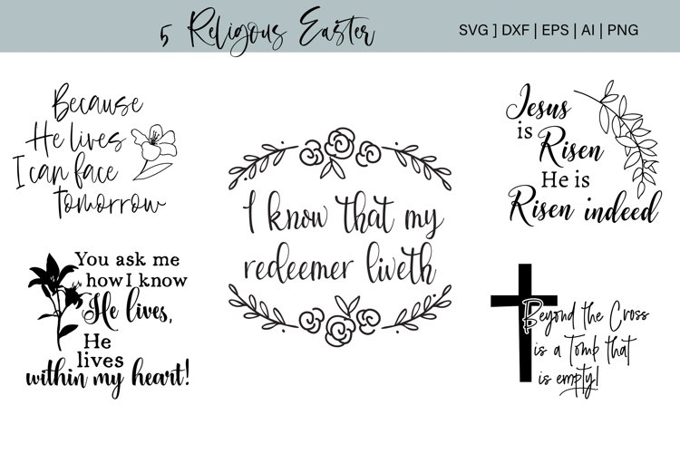 Religious Easter Bundle Cutting Files example image 1
