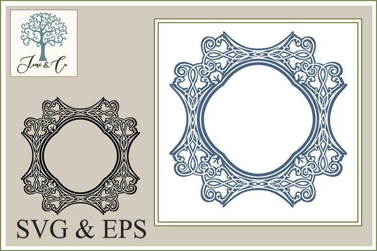 Border 02, An Ornate Art Nouveau Border Illustration in SVG