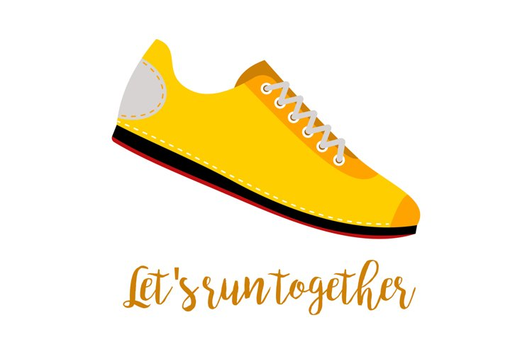 Shoes with text lets run together example image 1