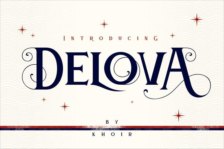 Delova - The Classic Font example image 1